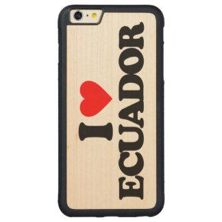 私はエクアドルを愛します CarvedメープルiPhone 6 PLUSバンパーケース