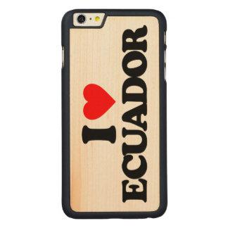 私はエクアドルを愛します CarvedメープルiPhone 6 PLUS スリムケース