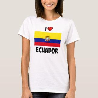 私はエクアドルを愛します Tシャツ