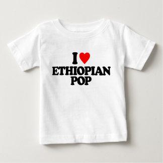 私はエチオピアの破裂音を愛します ベビーTシャツ