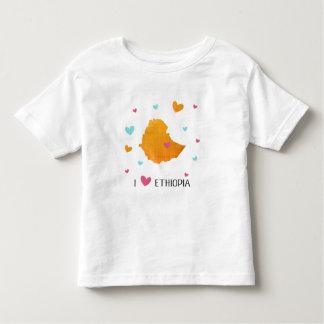 私はエチオピアを愛します トドラーTシャツ