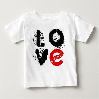 私はエドモントンのベビーのTシャツを愛します ベビーTシャツ