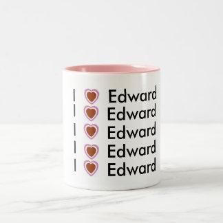 私はエドワードを愛します ツートーンマグカップ