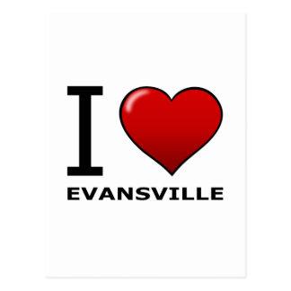 私はエバンズビル、内部のインディアナを愛します ポストカード