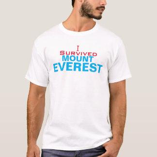 私はエベレストの男性基本的なTシャツを生き延びました Tシャツ