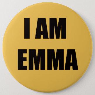 私はエマです 15.2CM 丸型バッジ
