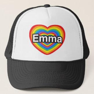 私はエマを愛します。 私はエマ愛します。 ハート キャップ