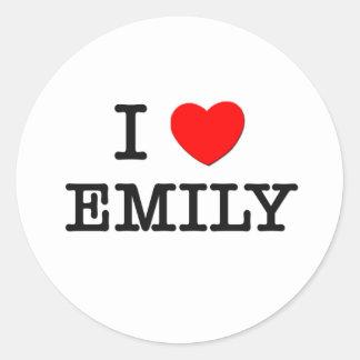 私はエミリーを愛します ラウンドシール