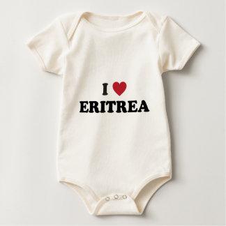 私はエリトリアを愛します ベビーボディスーツ