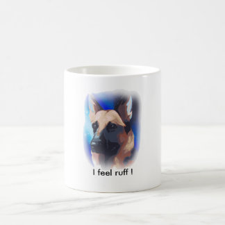 私はエリマキシギを感じます! ジャーマン・シェパードのマグ コーヒーマグカップ