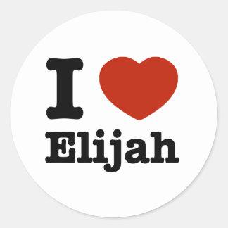 私はエリヤを愛します ラウンドシール