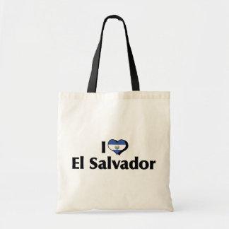 私はエルサルバドルの旗を愛します トートバッグ