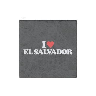 私はエルサルバドルを愛します ストーンマグネット