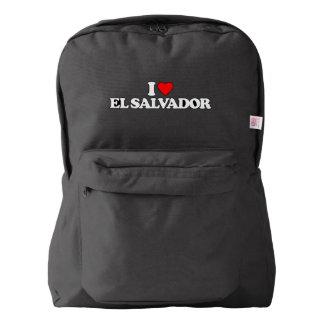 私はエルサルバドルを愛します AMERICAN APPAREL™バックパック