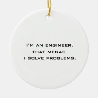 私はエンジニアです セラミックオーナメント