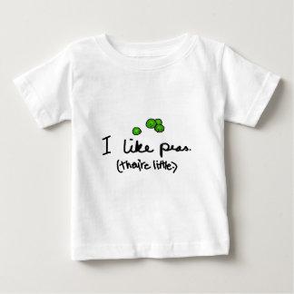 私はエンドウ豆を好みます ベビーTシャツ
