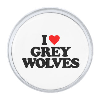 私はオオカミを愛します シルバー ラペルピン