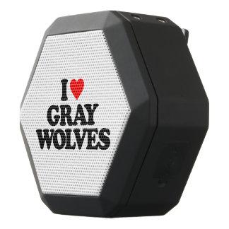 私はオオカミを愛します ブラックBluetoothスピーカー