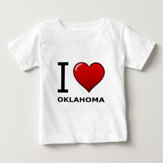 私はオクラホマを愛します ベビーTシャツ