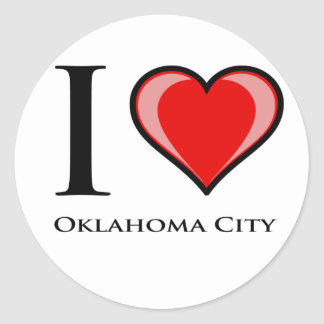 私はオクラホマシティーを愛します ラウンドシール