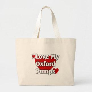 私はオックスフォード私のポンプを愛します ラージトートバッグ