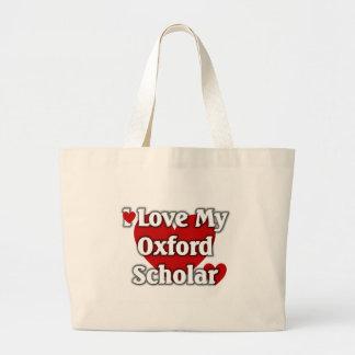 私はオックスフォード私の学者を愛します ラージトートバッグ