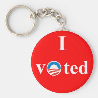私はオバマのために投票しました キーホルダー