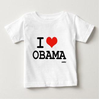 私はオバマを愛します ベビーTシャツ