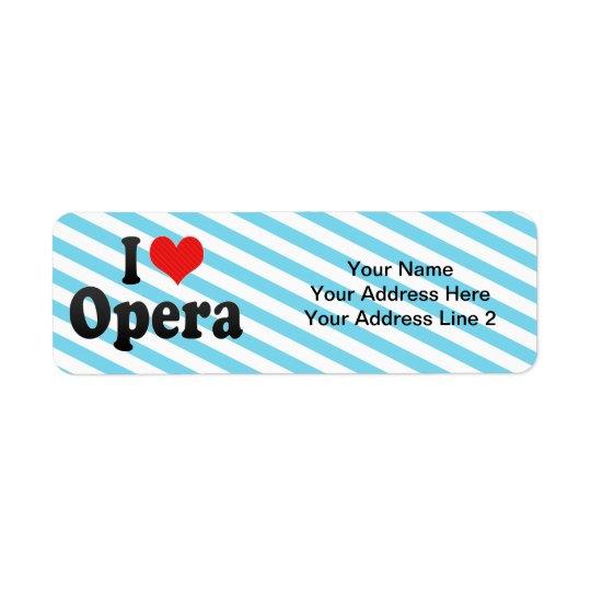 私はオペラを愛します 返信用宛名ラベル