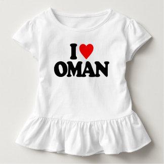私はオマーンを愛します トドラーTシャツ