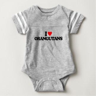私はオランウータンを愛します ベビーボディスーツ