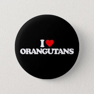 私はオランウータンを愛します 5.7CM 丸型バッジ