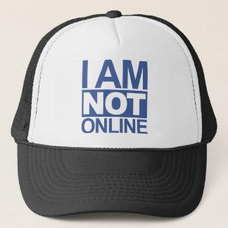 私はオンラインではないです キャップ