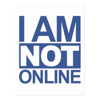 私はオンラインではないです ポストカード