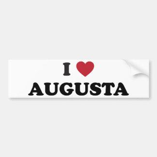 私はオーガスタジョージアを愛します バンパーステッカー