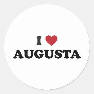 私はオーガスタジョージアを愛します 丸型シール
