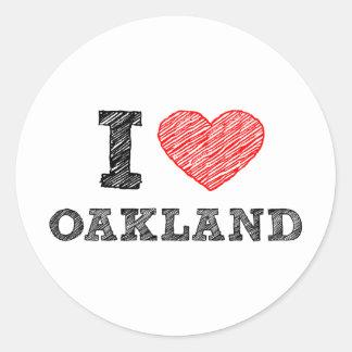 私はオークランドを愛します ラウンドシール