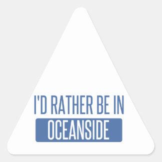 私はオーシャンサイドにむしろあります 三角形シール