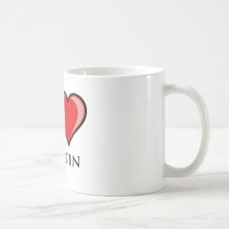 私はオースティンを愛します コーヒーマグカップ