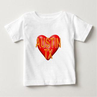 私はオースティンテキサス州を愛します ベビーTシャツ