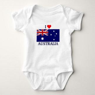 私はオーストラリアを愛します ベビーボディスーツ