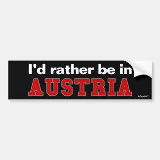 私はオーストリアにむしろいます バンパーステッカー