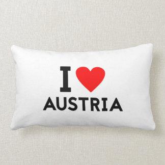 私はオーストリアの国の国家のハートの記号の文字を愛します ランバークッション