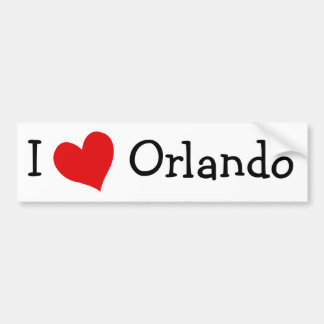私はオーランドを愛します バンパーステッカー
