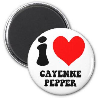 私はカイエンヌペパーを愛します マグネット