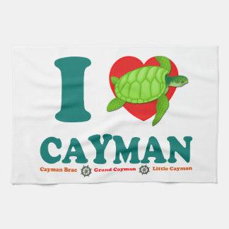 私はカイマンを愛します キッチンタオル