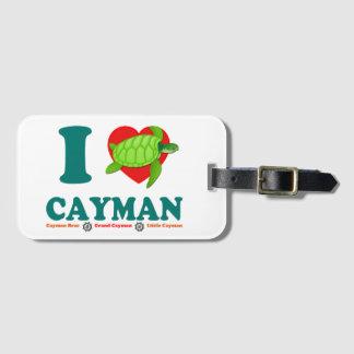 私はカイマンを愛します ラゲッジタグ