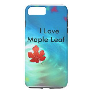 私はカエデの葉のiPhone 7のプラスの場合を愛します iPhone 7 Plusケース