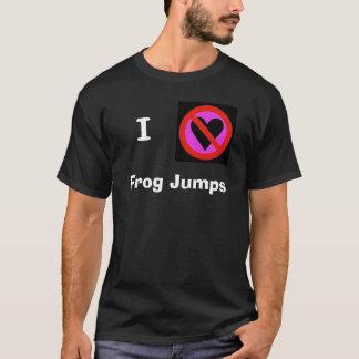 私はカエルを跳びます憎みます Tシャツ