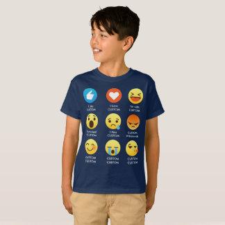 私はカスタマイズ可能な顔文字(emoji)のことわざを愛します tシャツ